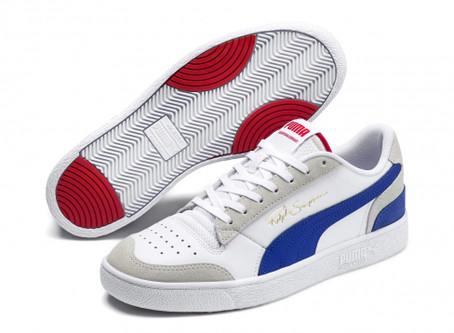 The PUMA Ralph Sampson Lo Vintage White Dazzling Blue