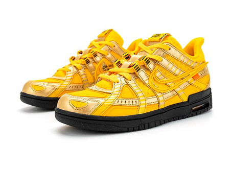 "Nike is that you?! Off-White™ x Nike Air Rubber Dunk ""University Gold"""