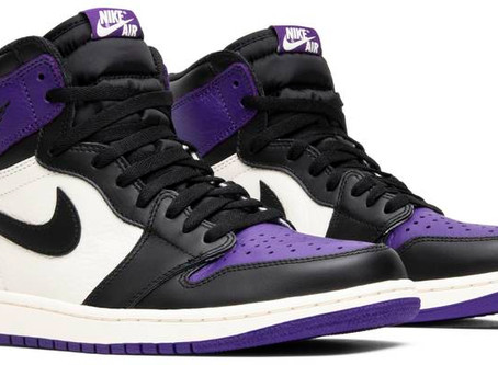 Retro Air Jordan 1s Dropping Purple Rain Style Color way