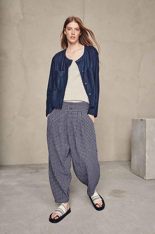 Pantalone quadri in cotone