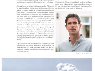 Abdruckfreie Zahnarztpraxis Artikel im Magazin Albatros