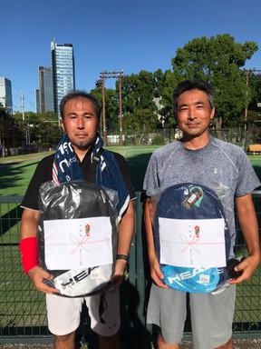 2021年度港区民夏季テニス大会《壮年男子ダブルス45》準優勝ペア