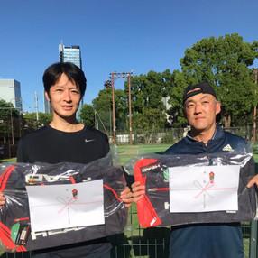 2021年度港区民夏季テニス大会《壮年男子ダブルス45》優勝ペア