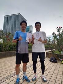 2021年度夏季テニス大会《男子ダブルス》準優勝ペア