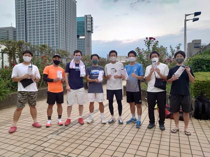 2021年度夏季テニス大会《男子ダブルス》1位から3位の皆さん