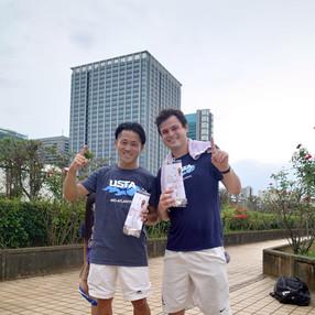 2021年度夏季テニス大会《男子ダブルス》優勝ペア