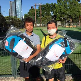 2021年度港区民夏季テニス大会《壮年男子ダブルス60》準優勝ペア