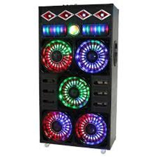 """Max Power MPD105M 5x10"""" Woofer with Dance Lights (Online Only)"""