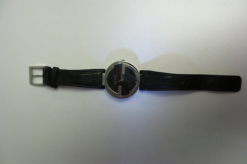 Womans GUCCI Watch w/ Black Leather Band