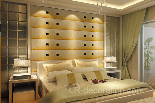 1308 Retro leather carved wall panel | lr-decoration
