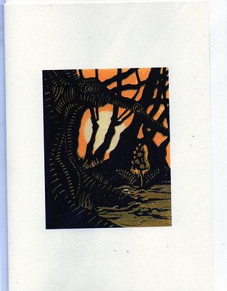 "Greeting Card (Blank) ""Wild Wood 2l"""