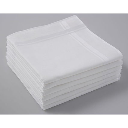 witte zakdoek 40 X 40 Cm | Zakdoek.info