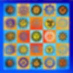 bandana : Sun  55x55cm 100%katoen - zakdoek.info