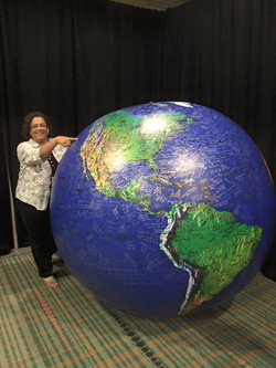 Monica and The Journey globe