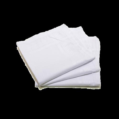 zakdoeken, wit, 40 x 40 cm  6 stuks