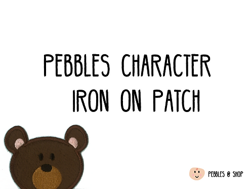 Pebbles Character Iron on Patch