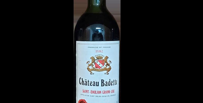 Chateau Badette 1982 AOC Margaux