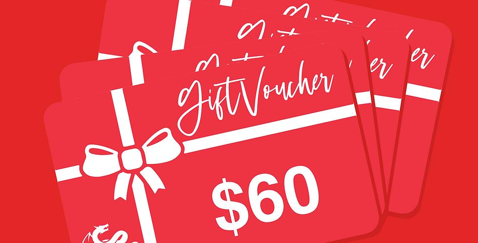 Gift Voucher $60 x 4