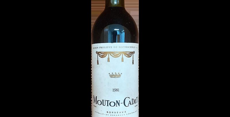 Mouton Cadet 1981 AOC Bordeaux