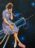 Vacuuming the Universe painting by Nikki Nash