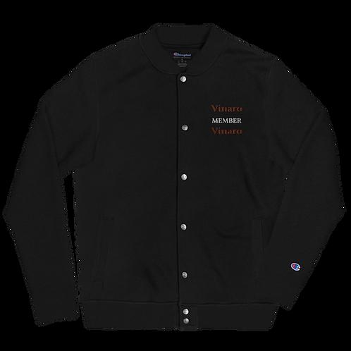 Vinaro Men Embroidered Champion Bomber Jacket