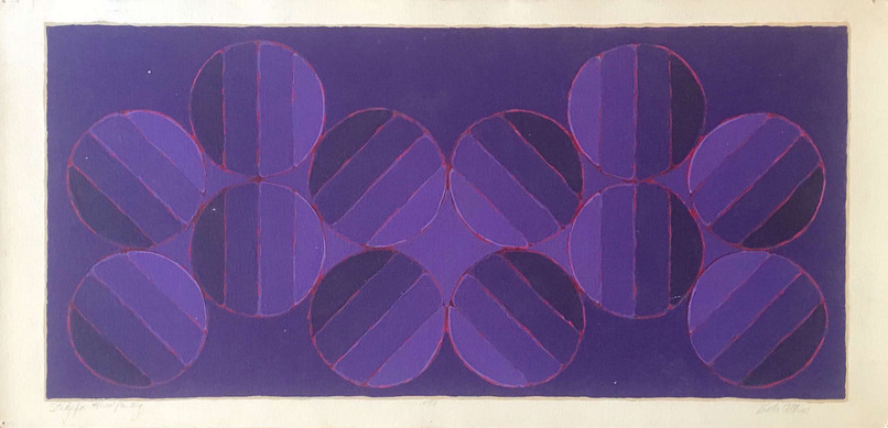 """Study for 48"""" x 100"""" Painting, 1973."""