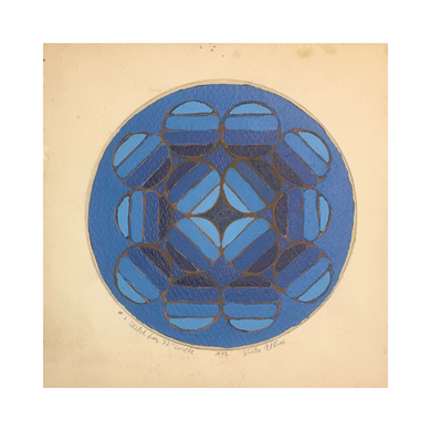 """#1 Sketch for 72"""" Circle, 1972."""