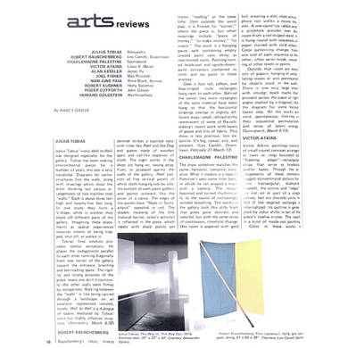 Arts Magazine 1976 Art Review of Victor Atkins