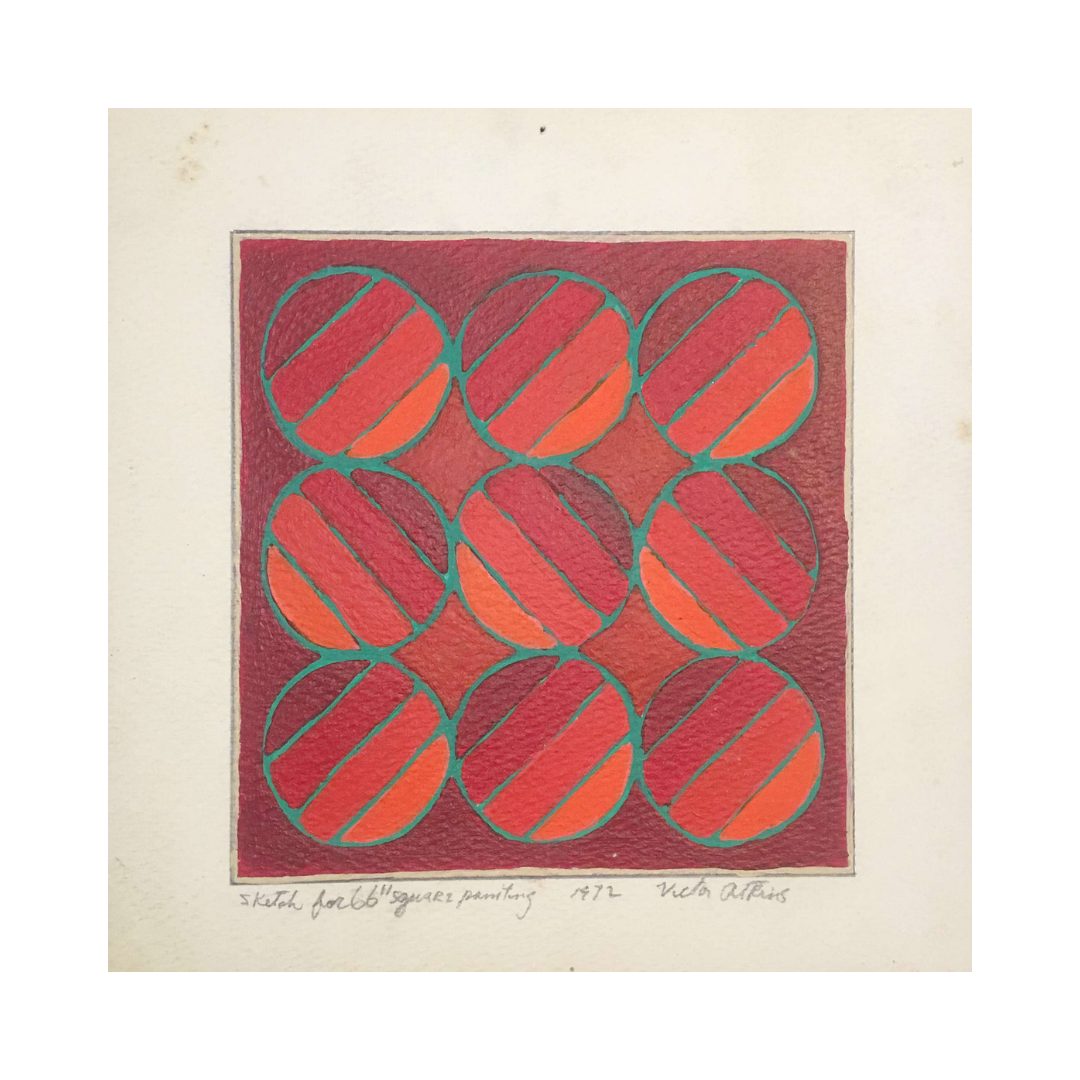 Sketch for 66 Square Painting, 1972.