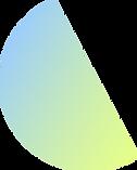 カラフルな半円形