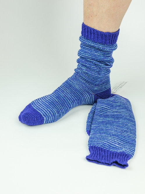 Chausettes Adulte Rayées Bleues - T38