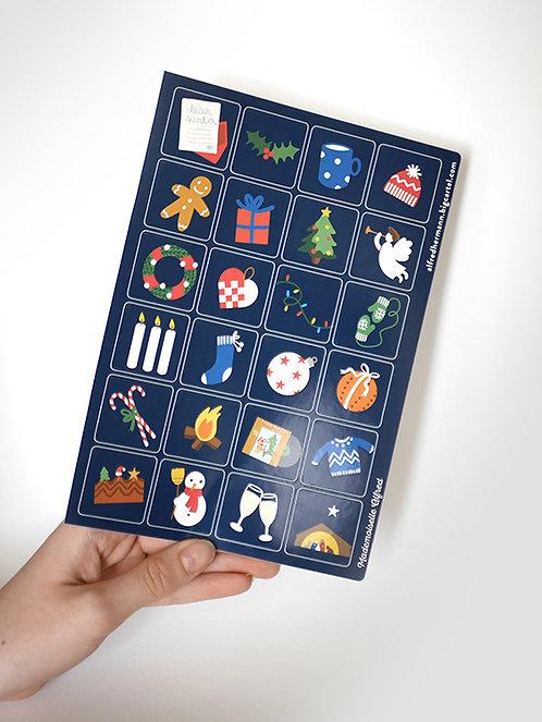 Planche de stickers NOEL