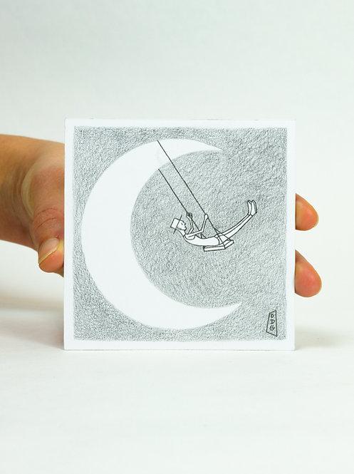 Dessin Lune balançoire
