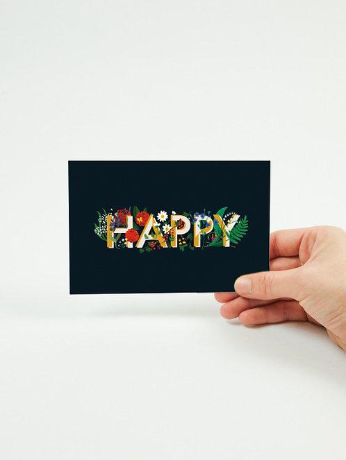 Carte postale HAPPY