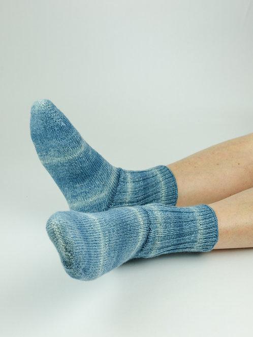 Chaussettes Adulte Unies Bleues Jeans - T39