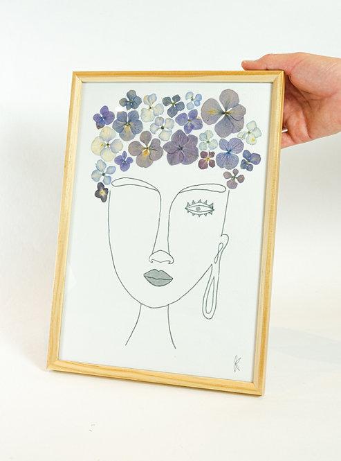 Portrait fleuri (version femme)