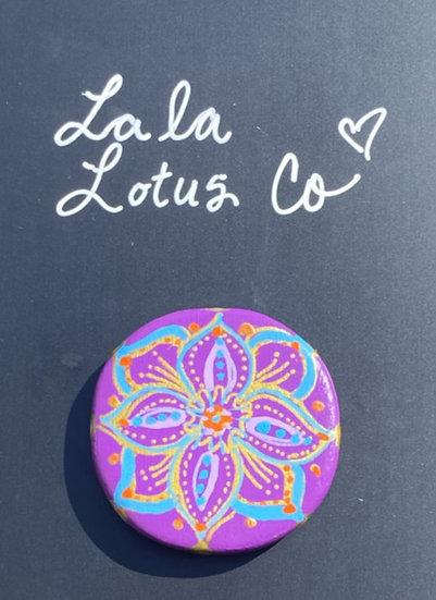 Purple Lotus Magnet