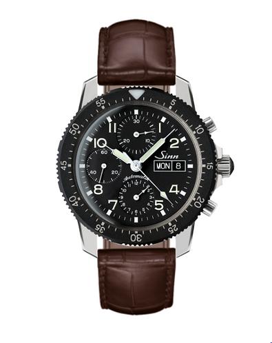 Sinn 103 St 41mm Brown Leather Strap Mens Wristwatch