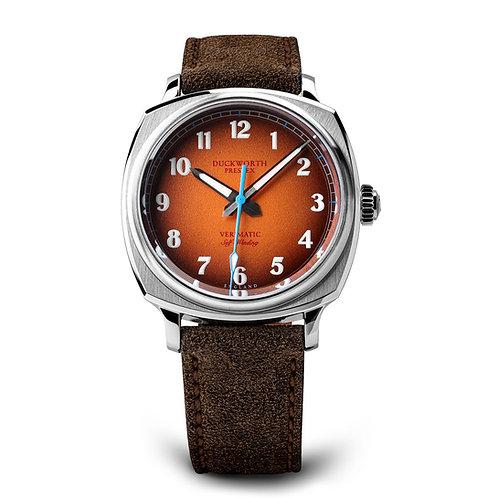 Cuckworth Prestex Verimatic Orange Dial 39mm Automatic Watch