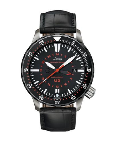Sinn - U2 SDR (EZM 5) - Black Leather Strap option - 1020.040