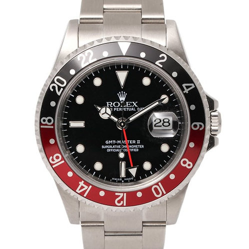 Rolex GMT-Master II Coke Black and Red Bezel Black Dial 40mm Automatic Watch