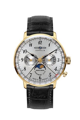 Zeppelin Hindenburg Moonphase quartz watch