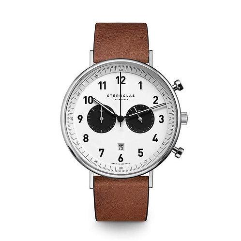 Sternglas Chronograph white dial quartz watch