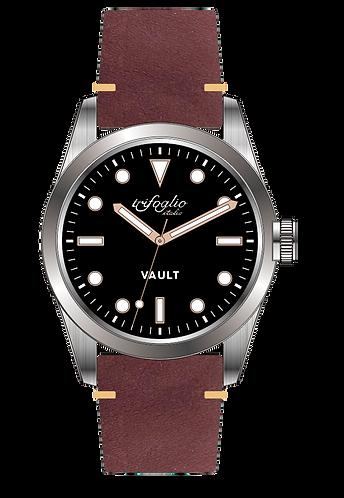 Trifoglio Italia Vault, the storage watch. Seiko quartz movement sweep seconds
