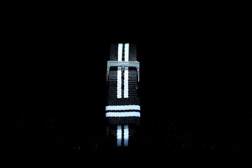 Nylon Nato Strap - Black/White