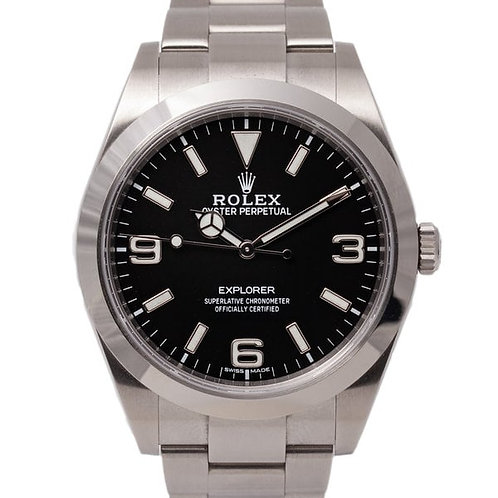 Rolex Explorer Black Dial 39mm Oystersteel Bracelet Automatic Wristwatch