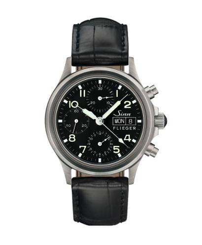 Sinn - 356 Sa Pilot - Black Leather Strap option - 356.070