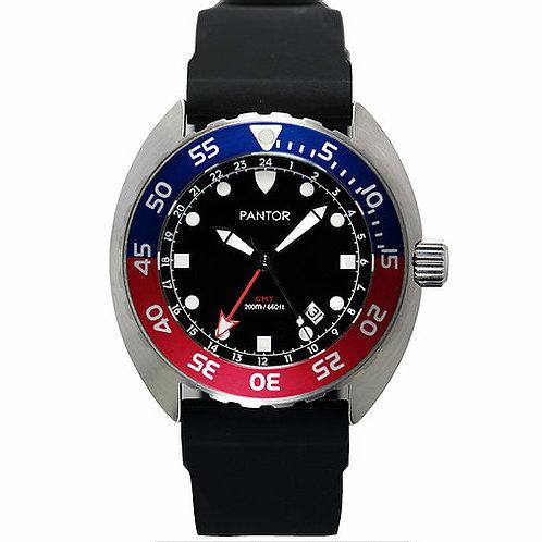 Pantor nautilus GMT blue red quartz turtle gents divers watch