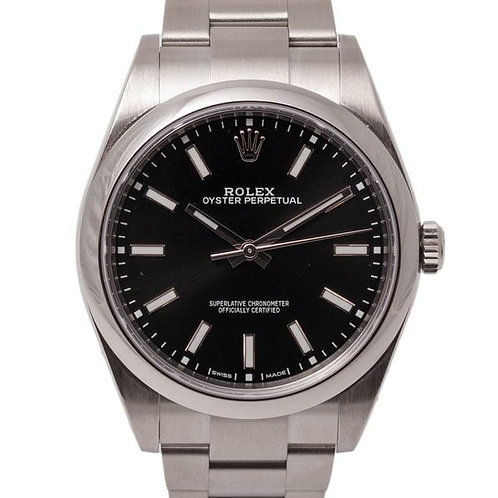 Rolex Oyster Perpetual 41mm Black Dial Automatic Waterproof Watch