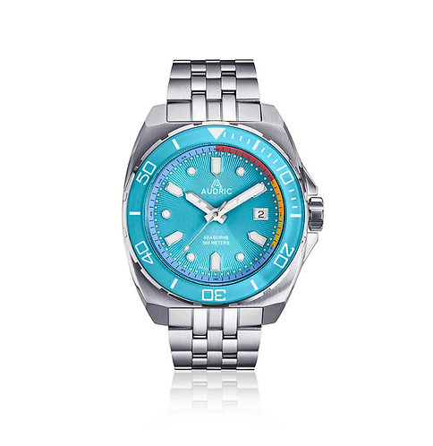 Audric Seaborne glacier blue dial divers watch